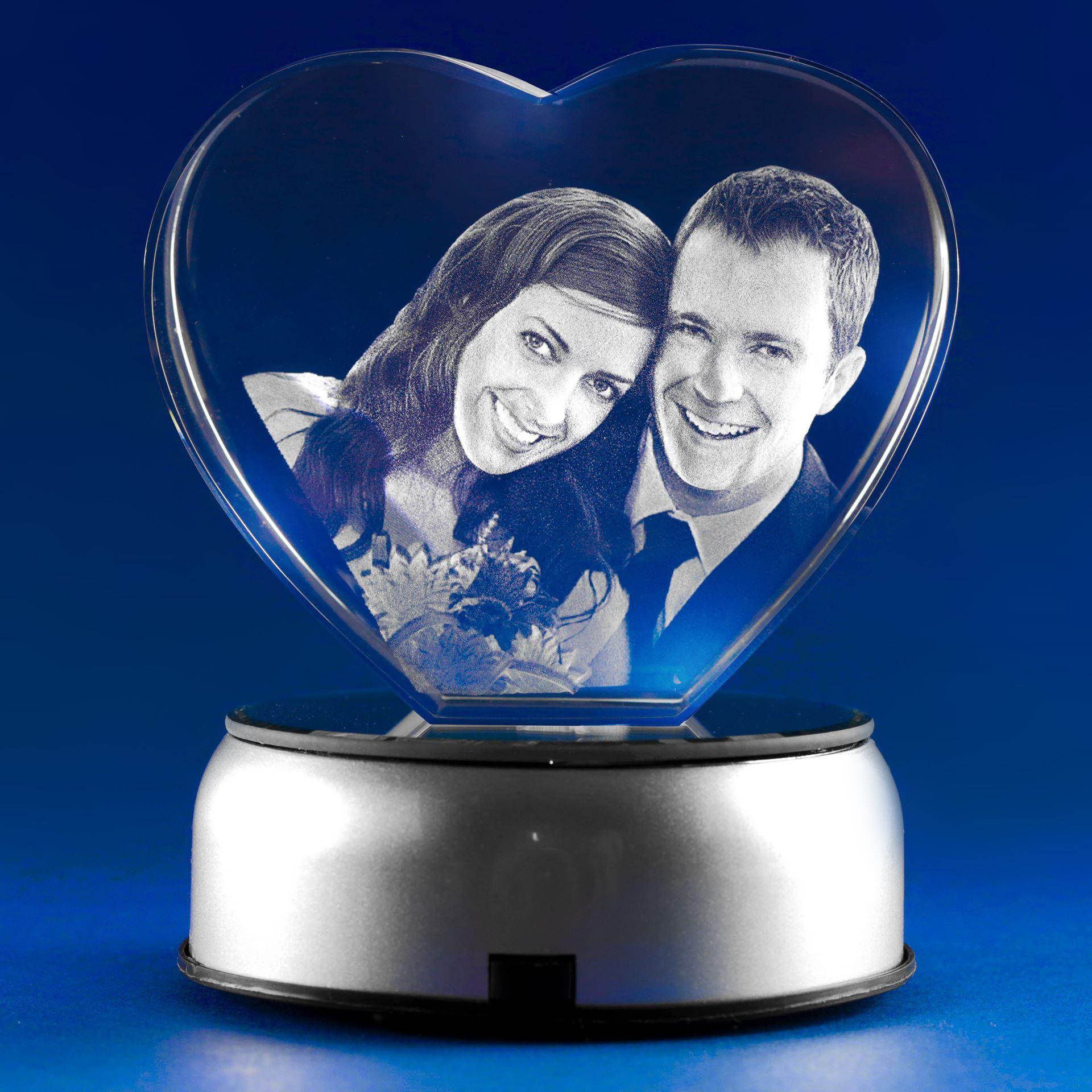 Heart 3D Photo Crystal