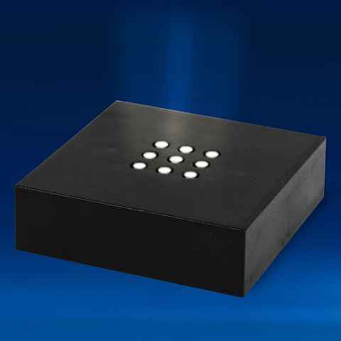 Black Matte Finished 9 White LEDs Light Base