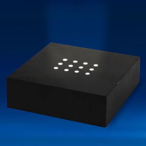Large Black Matte Finished 12 White LEDs Light Base