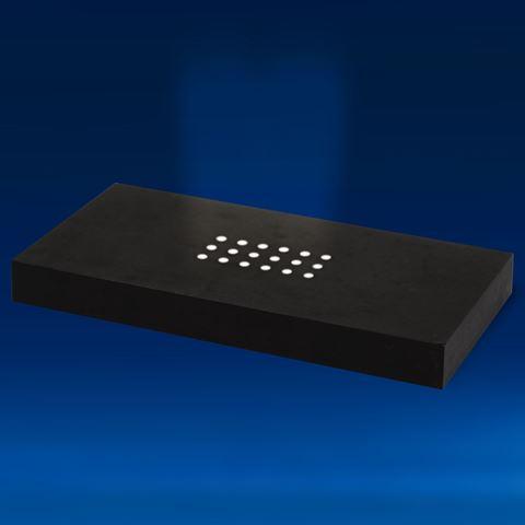 Extra Large Black Matte Finished 18 White LEDs Light Base