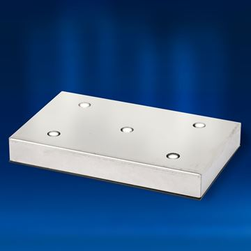Rectangular Aluminium 5 White LEDs Light Base