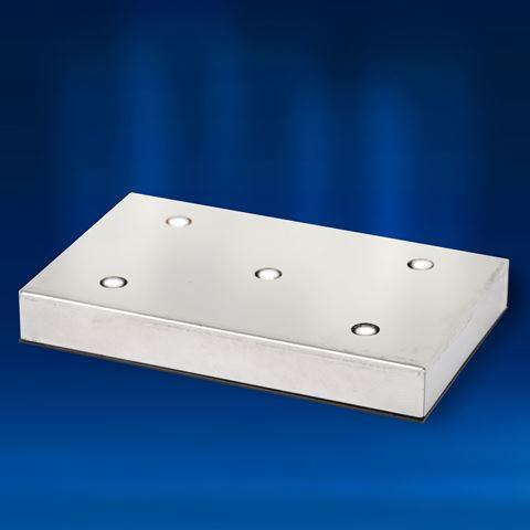 Rectangular Aluminium 5 White LEDs Light Base